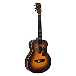 SIGMA, MINI Acoustic Guitar, Tobacco Sunburst, Premium Name-Brand Tuners & Steel Strings, Solid Gloss Spruce Top…