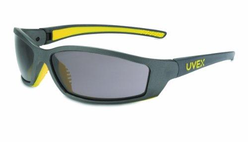 Uvex SX0401XSolarPro Safety Eyewear Gray Uvextreme Anti-Fog Lens, Gray and Yellow Frame
