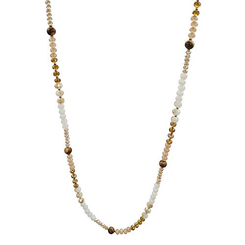 - Karen accessories Fashion Long Beaded Necklace Handcrafted Crystal Beads Strands Necklace (Style 1)
