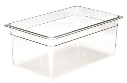 Cambro Camwear 18CW135 Food Pan, 1/1 by 8-Inch, Clear Camwear Clear Food Storage Pan