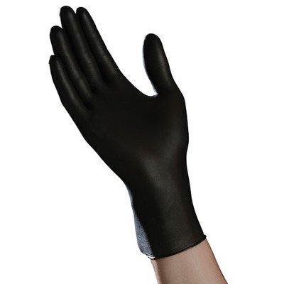 Ambitex NLG200BLK Nitrile Exam Gloves, Powder Free, Large, Black (Pack of 1000)
