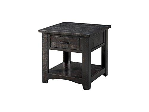 Martin Svensson Home 890132 Rustic End Table, Antique Black