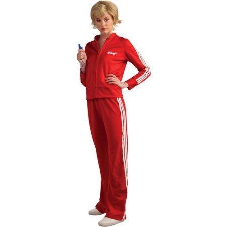 Sue Glee Red Teen Halloween Track Suit Costume - One Size