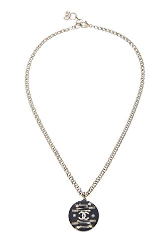 CHANEL Black Silverware Necklace (Pre-Owned)
