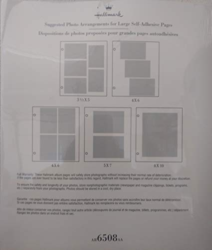 Hallmark 18 Self Adhesive Pages for Large 3 Ring and POst Bound Albums - AR6508 by Hallmark (Image #1)