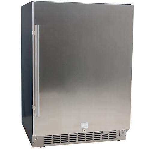 EdgeStar CBR1501SLD 5.49 Cu. Ft 142 Can Built-in Stainless Steel Beverage Cooler (In Built Refrigerator Door Glass)