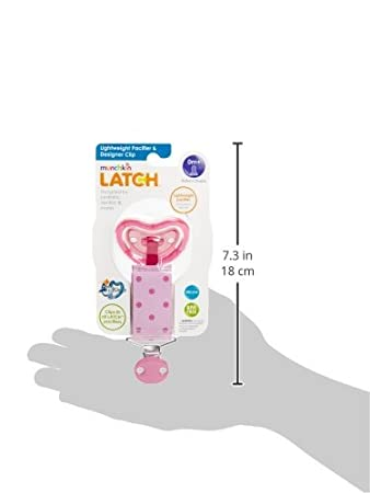 Amazon.com : Latch Chupete Ligero y Diseñador videoclip, Rosa, 0+ ...