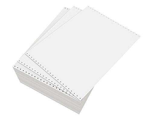 Domtar Continuous Form Paper, Unperforated, 14 7/8'' x 11'', 20 Lb, Blank White, Box of 2,300 Forms