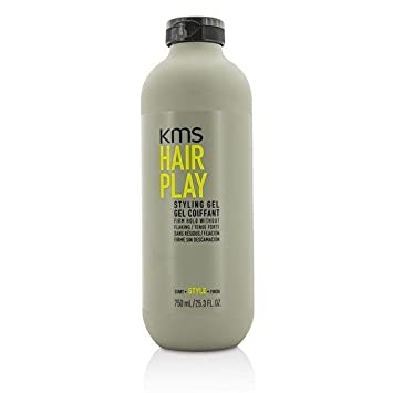 KMS HAIRPLAY Styling Gel Flake-Free, Glossy Shine Firm Hold, Long-Lasting Control, Unisex, 25.4 oz