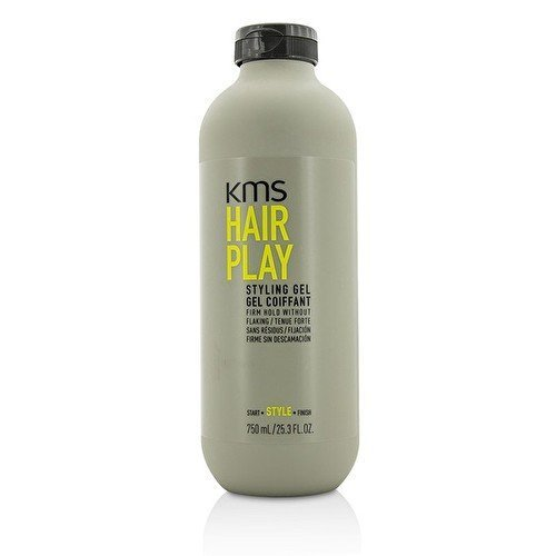 - KMS HAIRPLAY Styling Gel Flake-Free, Glossy Shine & Firm Hold, Long-Lasting Control, Unisex, 25.4 oz