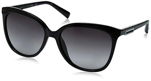 Calvin Klein Women's R730S Square Sunglasses, Black, 57 - Calvin Sunglasses