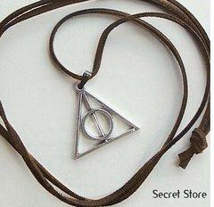 JFY Collar de Luna Lovegood plata retro artesanal Harry Potter Reliquias de la Muerte su¨