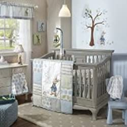 Lambs & Ivy Peter Rabbit Baby Boy Crib Bedding Set, 4 Piece