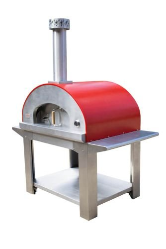 Ultra40 Portable Wood Fired Pizza Oven Cart - Red