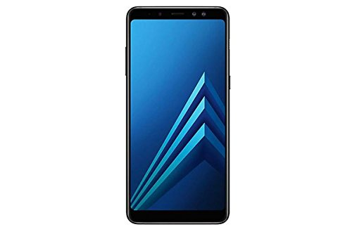 Samsung Galaxy A8+ (2018) Factory Unlocked SM-A730F/DS DUAL SIM 64GB/4GB Ram, 6 Screen, 16MP Rear Camera + Dual Frontal Camera 16MP+8MP, IP68, 4G LTE International Version No Warranty (Black)