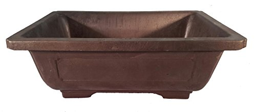 Rectangle Mica Bonsai Training Pot - Superior To Plastic - Won't break from freezing or dropping like clay, earthenware or ceramic (Exterior Dimensions 9 1/2 x 7 x 3 ()