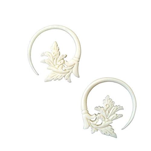 Flower Spiral Gauged Plugs Body Piercing Jewelry Earrings 8 gauge ()