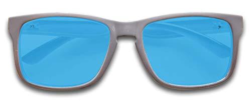 Para Frame Gafas Sol Full Lens De Kz Blue Adultos Grey Revo Glossy pqA0xtgxw