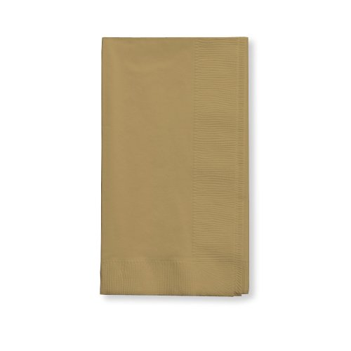 Creative Converting Touch of Color 100 Count 2-Ply Paper Dinner Napkins, Glittering Gold (Gold Napkin)