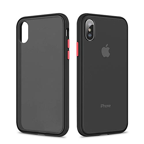 - SURPHY Matte iPhone X Case iPhone Xs Case, Translucent Matte Cover (Shockproof and Anti-Drop Protection) Frosted Case for iPhone X XS 5.8 inch, Matte Black