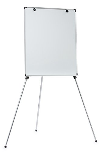 Magnetic Dry-Erase Board Lightweight Aluminum Flip Chart Presentation Easel (28 x 35 Inches)