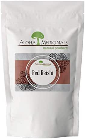 Aloha Medicinals - Pure Red Reishi - Certified Organic Mushroom Supplement – Ganoderma Lucidum – Health Supplement – Supports Cardiovascular, Immune System and Liver Function - 1 Kilo Bag (Powder)