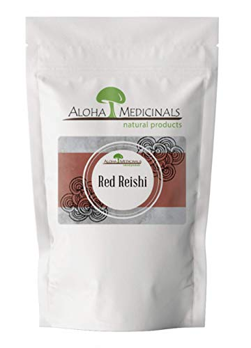 Aloha Medicinals - Pure Red Reishi - Certified Organic Mushroom Supplement - Ganoderma Lucidum - Health Supplement - Supports Cardiovascular, Immune System and Liver Function - 1 Kilo Bag (Powder)