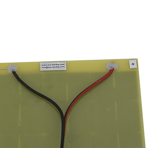 10Watt 18V Epoxy Solar Panel with Battery Clips Ideal For 12V Battery Charger For Car RV Boat Camping by ECO LLC (Image #5)