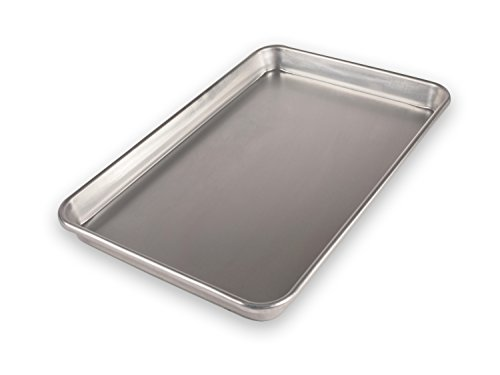 USA Pan Bare Aluminum Bakeware 1040JR-BB Jelly Roll Baking Pan Warp-Resistant, Rust-Proof Bakeware