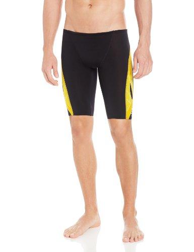 TYR Men's Phoenix Splice Jammer Swimsuit (Black/Gold, 32)