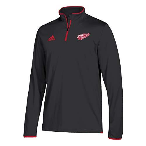 - adidas Men's Detroit Red Wings NHL Authentic 1/4 Zip Pullover Black Size Medium