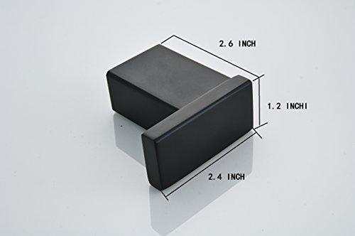 Klabb B58 4-Piece ss304 Bathroom Hardware Accessory Set with 24'' Towel Bar -Matte Black by Klabb (Image #4)
