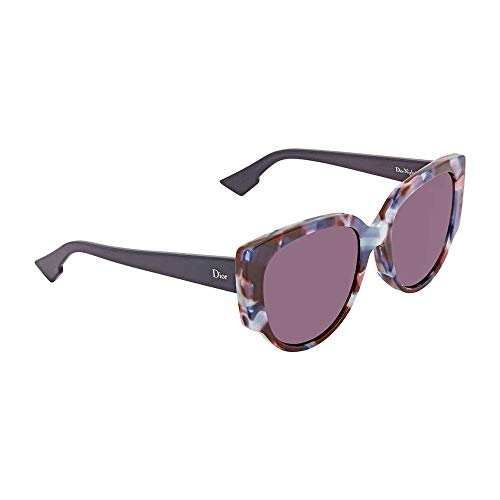 Christian Dior Night 1/S Sunglasses Havana Light Blue / Dark Purple
