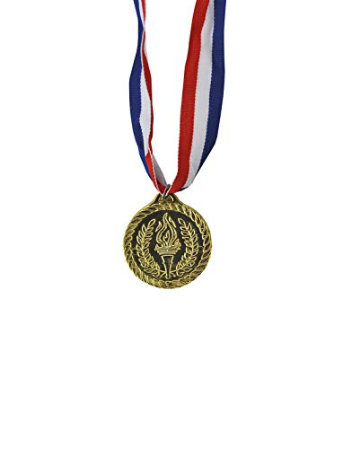 Gold Fake Plastic Olympic Games Champion Olympic Medal Costume Accessory -
