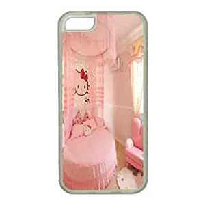 Iphone 5s Case,Hard PC Iphone 5s Protective Case for Ultimate Protect iphone 5s with Hello Kitty Room