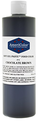 Americolor Soft Gel Paste Food Color, 13.5-Ounce, Chocolate Brown by AmeriColor