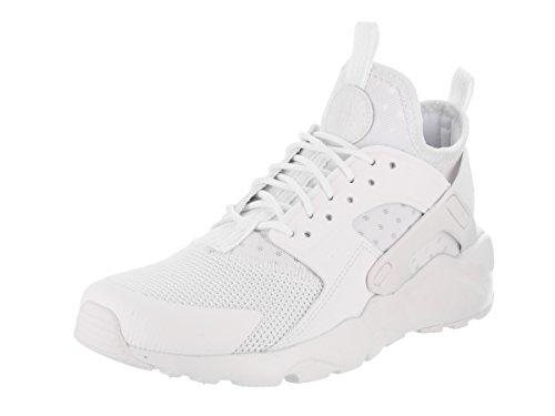 NIKE Kids Air Huarache Run Ultra GS White/White White Running Shoe 4 Kids US