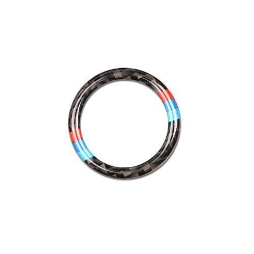 baadd17defc4 S-WEKA Car Start Key Ring Stickers Carbon Fiber Circle M Stripe Trim for BMW