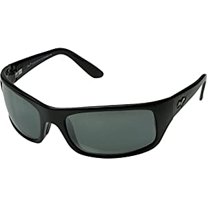 Maui Jim Peahi Polarized Sunglasses,Gloss Black Frame/Neutral Grey Lens,one size