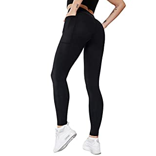 ACTIVE.WEAR Women Legging with Pockets,Girl Running Tight Pant,High Waist,Tummy Control,4 Way Stretch,Non See-Through T1903