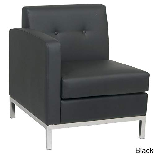 Wall Street Single Left Arm Chair Black ()