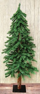 Alpine Tree Wood Trunk Country Primitive Christmas Holiday Décor