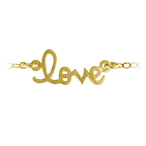 TwoBirch Personalized Script Nameplate Necklace 14k Yellow Gold 20 Inches 14k Yellow Gold Nameplate