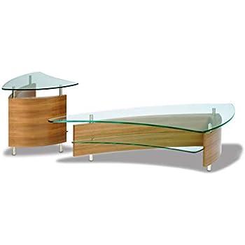 Amazon.com: bdi terraza 1150 mesa de café cuadrada (Natural ...