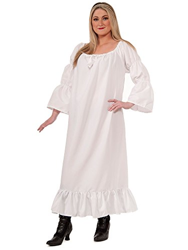 Forum Novelties Women's Plus-Size Medieval Chemise Plus Size Costume, White, (Plus Pirate Costume)