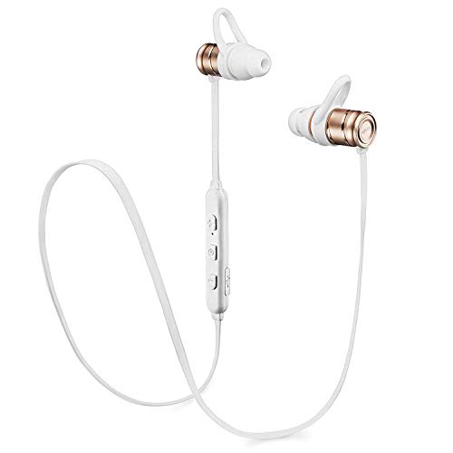 [Newest 2019] Wireless Workout Bluetooth Earbuds for Running and Gym - Sports Bluetooth Headphones with Microphone - HD Stereo - Magnetic Earphones - Lightweight Wireless Earphones for Women Men (Best Gym Headphones 2019)