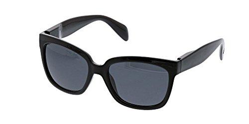 Peepers Women's Palmetto Sun Polarized Square Sunglasses, Black, 56 - Sunglasses 2017 Womens