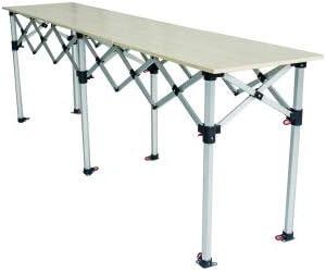 Comptoir Table Pliante Hauteur Reglable 285x40cm Plateau Bois