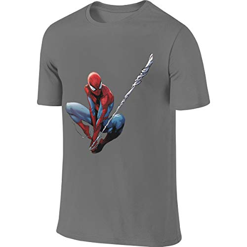 Syins Man Designed Classic Top Spider Man Peter Parker T-Shirt Deep Heather