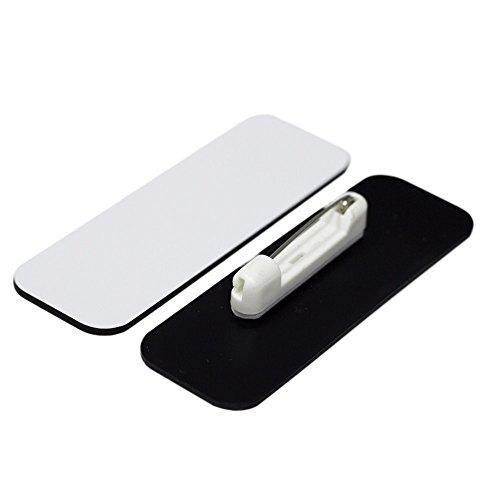 Name Tag / Badge Blanks - 25 Pack - White 1